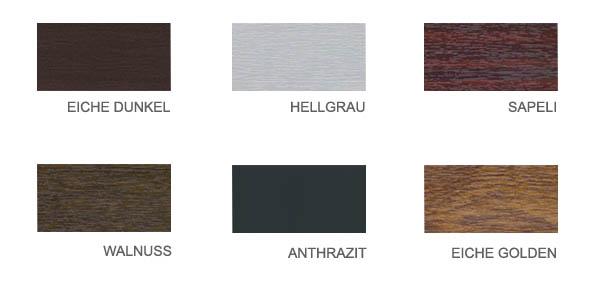pvc fenster farben