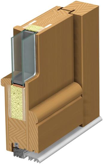 Lesena vhodna vrata profil
